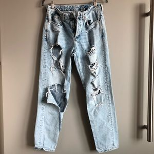 H&M super distressed Boyfriend jeans